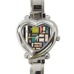 Door Stained Glass Stained Glass Heart Italian Charm Watch