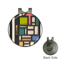 Door Stained Glass Stained Glass Hat Clips With Golf Markers