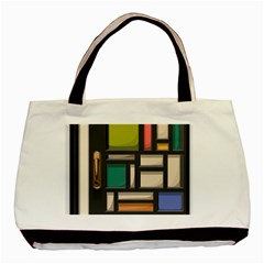 Door Stained Glass Stained Glass Basic Tote Bag (two Sides)
