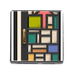 Door Stained Glass Stained Glass Memory Card Reader (square 5 Slot)