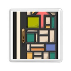 Door Stained Glass Stained Glass Memory Card Reader (square)