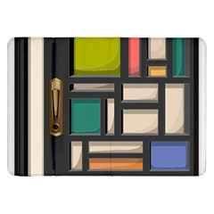 Door Stained Glass Stained Glass Samsung Galaxy Tab 8 9  P7300 Flip Case by Pakrebo