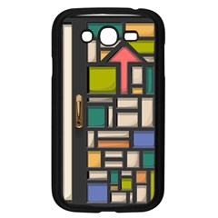 Door Stained Glass Stained Glass Samsung Galaxy Grand Duos I9082 Case (black) by Pakrebo
