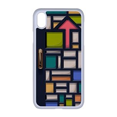 Door Stained Glass Stained Glass Apple Iphone Xr Seamless Case (white)