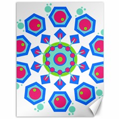 Mandala Geometric Design Pattern Canvas 36  X 48  by Pakrebo