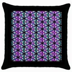 Geometric Patterns Triangle Seamless Throw Pillow Case (black)