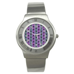 Geometric Patterns Triangle Seamless Stainless Steel Watch
