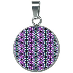 Geometric Patterns Triangle Seamless 20mm Round Necklace