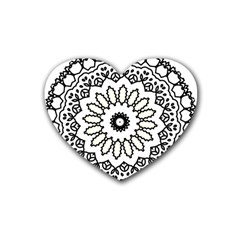 Mandala Kaleidoscope Arts Heart Coaster (4 Pack)