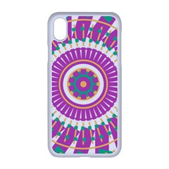 Mandala Geometric Pattern Shapes Apple Iphone Xr Seamless Case (white)