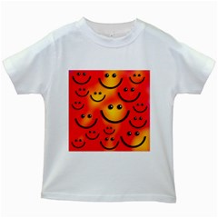 Smile Smiling Face Happy Cute Kids White T Shirts