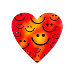 Smile Smiling Face Happy Cute Heart Magnet by Pakrebo