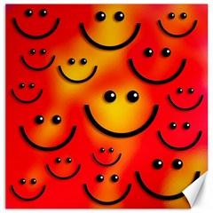 Smile Smiling Face Happy Cute Canvas 20  X 20  by Pakrebo