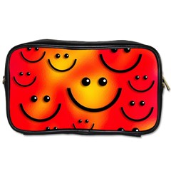 Smile Smiling Face Happy Cute Toiletries Bag (one Side)