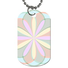 Flower Stained Glass Window Symmetry Dog Tag (two Sides)