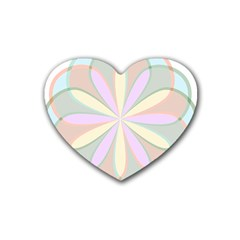 Flower Stained Glass Window Symmetry Heart Coaster (4 Pack)