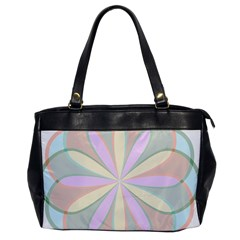 Flower Stained Glass Window Symmetry Oversize Office Handbag