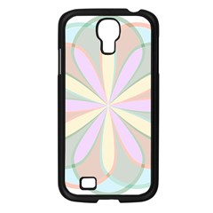 Flower Stained Glass Window Symmetry Samsung Galaxy S4 I9500/ I9505 Case (black)