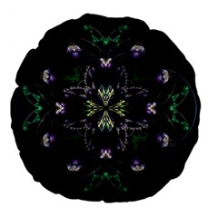 Fractal Fractal Art Texture Large 18  Premium Flano Round Cushions