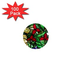 Stained Glass Art Window Church 1  Mini Magnets (100 Pack)  by Pakrebo