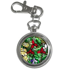 Stained Glass Art Window Church Key Chain Watches