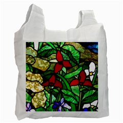 Stained Glass Art Window Church Recycle Bag (one Side) by Pakrebo