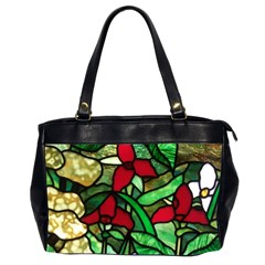 Stained Glass Art Window Church Oversize Office Handbag (2 Sides) by Pakrebo