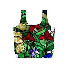 Stained Glass Art Window Church Full Print Recycle Bag (s) by Pakrebo