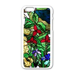 Stained Glass Art Window Church Apple Iphone 6/6s White Enamel Case