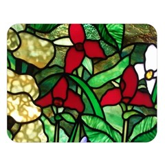 Stained Glass Art Window Church Double Sided Flano Blanket (large)