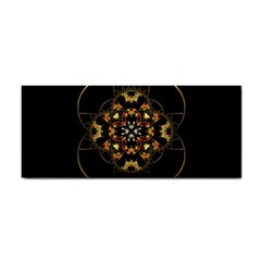 Fractal Stained Glass Ornate Hand Towel by Pakrebo