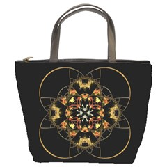 Fractal Stained Glass Ornate Bucket Bag