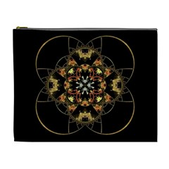Fractal Stained Glass Ornate Cosmetic Bag (xl)