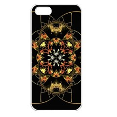 Fractal Stained Glass Ornate Apple Iphone 5 Seamless Case (white) by Pakrebo