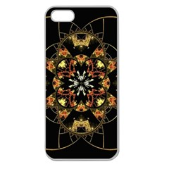 Fractal Stained Glass Ornate Apple Seamless Iphone 5 Case (clear) by Pakrebo