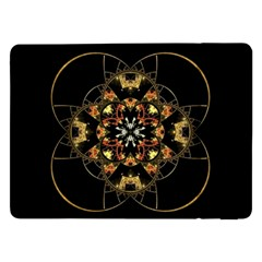 Fractal Stained Glass Ornate Samsung Galaxy Tab Pro 12 2  Flip Case by Pakrebo