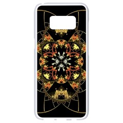 Fractal Stained Glass Ornate Samsung Galaxy S8 White Seamless Case by Pakrebo