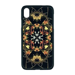 Fractal Stained Glass Ornate Apple Iphone Xr Seamless Case (black)