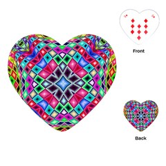 Kaleidoscope Pattern Sacred Geometry Playing Cards (heart)