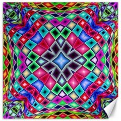 Kaleidoscope Pattern Sacred Geometry Canvas 12  X 12  by Pakrebo