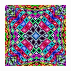 Kaleidoscope Pattern Sacred Geometry Medium Glasses Cloth (2 Side) by Pakrebo