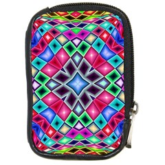 Kaleidoscope Pattern Sacred Geometry Compact Camera Leather Case