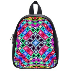 Kaleidoscope Pattern Sacred Geometry School Bag (small)