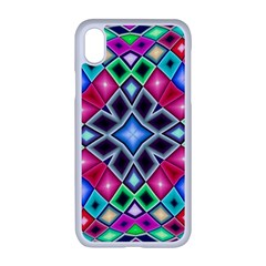 Kaleidoscope Pattern Sacred Geometry Apple Iphone Xr Seamless Case (white)