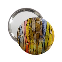 Stained Glass Window Colorful 2 25  Handbag Mirrors by Pakrebo