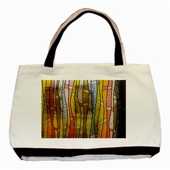 Stained Glass Window Colorful Basic Tote Bag