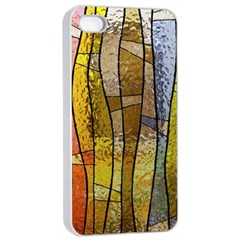 Stained Glass Window Colorful Apple Iphone 4/4s Seamless Case (white)