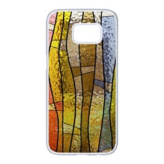 Stained Glass Window Colorful Samsung Galaxy S7 Edge White Seamless Case