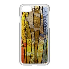 Stained Glass Window Colorful Apple Iphone 7 Seamless Case (white)