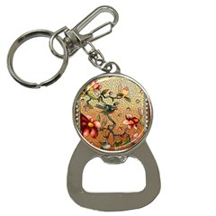 Flower Cubism Mosaic Vintage Bottle Opener Key Chains by Pakrebo